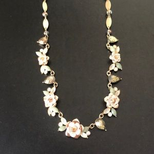 Lonna & Lilly gold-tone flower crystal necklace